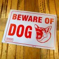 [BEWARE OF DOG] Sign Plate