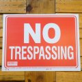 [NO TRESPASSING] Sign Plate 9x12inch 【S】