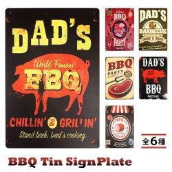 画像1: BBQ Tin SignPlate【全6種】