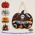 Halloween Wood Sign Pumpkin Shaped【全5種】
