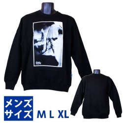 画像1: Estevan Oriol  LA Hands Men's Crewneck Sweatshirt  (Black) 【M】【L】 【XL】エステヴァン オリオール LAハンズ トレーナー