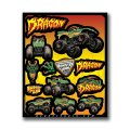 D'COR MONSTER JAM DECAL SHEETS<DRAGON>