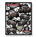 D'COR MONSTER JAM DECAL SHEETS<MONSTER MUTT DALMATIAN>