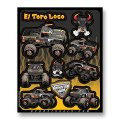 D'COR MONSTER JAM DECAL SHEETS<El Toro Loco BLACK>