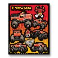 D'COR MONSTER JAM DECAL SHEETS<El Toro Loco RED>