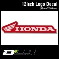 D'COR 12 inch Honda Decal