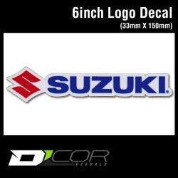 画像1: D'COR 6 inch Suzuki Decal 【メール便OK】