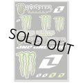 One Industries MONSTER ENERGY DECAL SHEET