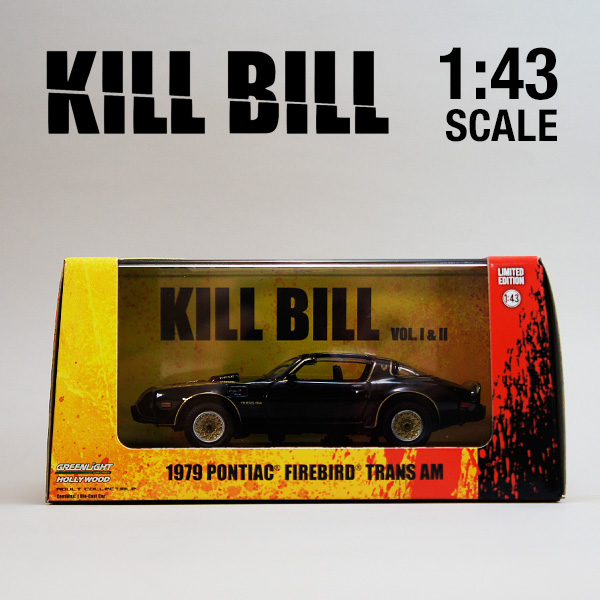 1:43 Greenlight Pontiac Firebird Trans Am Kill Bill I /& II 1979 BLACK